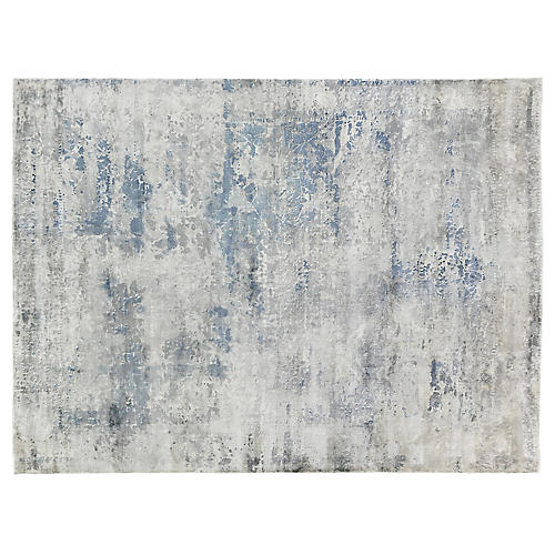 Forling Hand-Knotted Rug, Gray