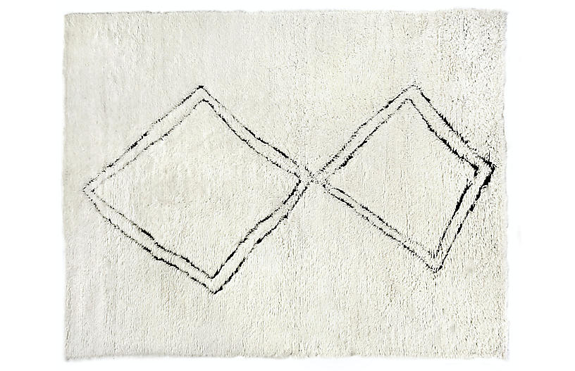 Bluff Hand-Knotted Rug, Beige
