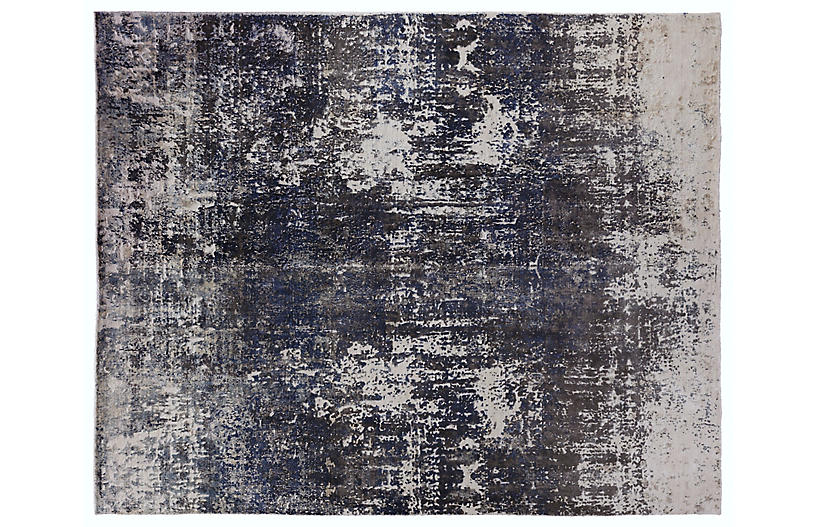 Porto Hand-Knotted Rug, Blue