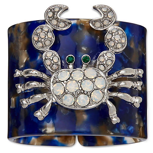 S/4 Crab Napkin Rings, Blue