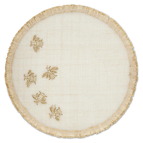 Straw Bee Placemat, Natural