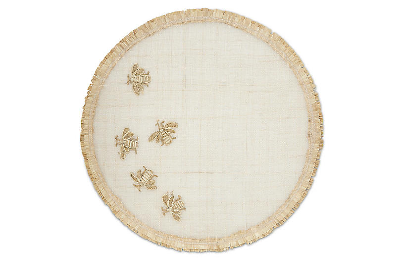Straw Bee Place Mat, Natural