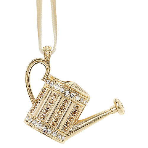 Watering Can Ornament, Gold