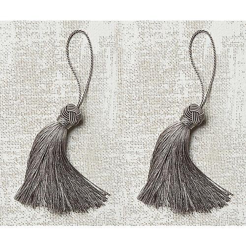 S/2 Gigi Key Tassels, Silver