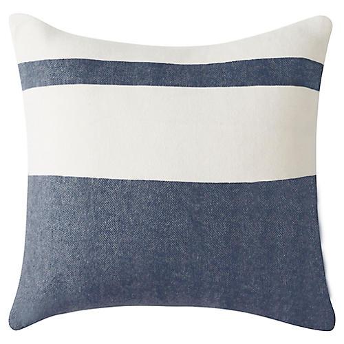 Sydney Stripe 20x20 Pillow, Navy
