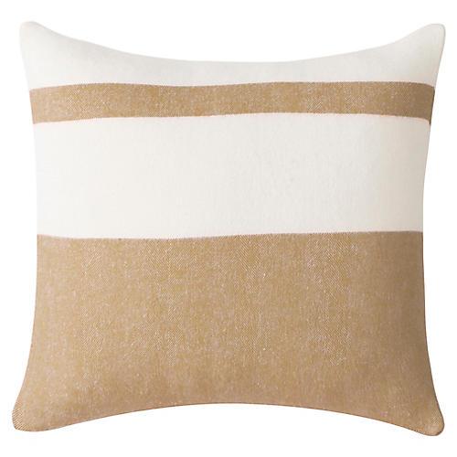 Sydney Stripe 20x20 Pillow, Caramel