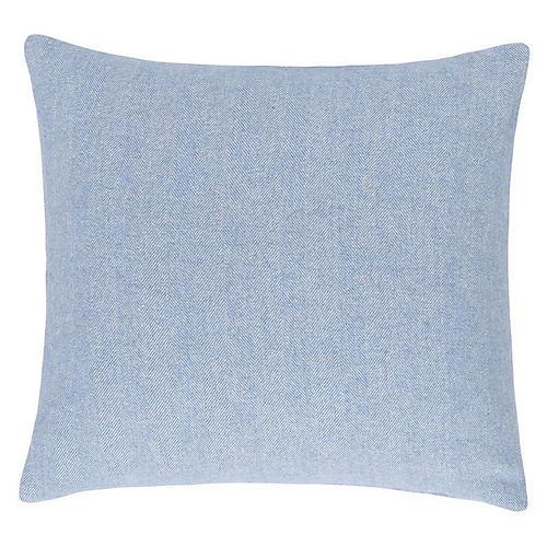 Herringbone 20x20 Pillow, Blue Denim
