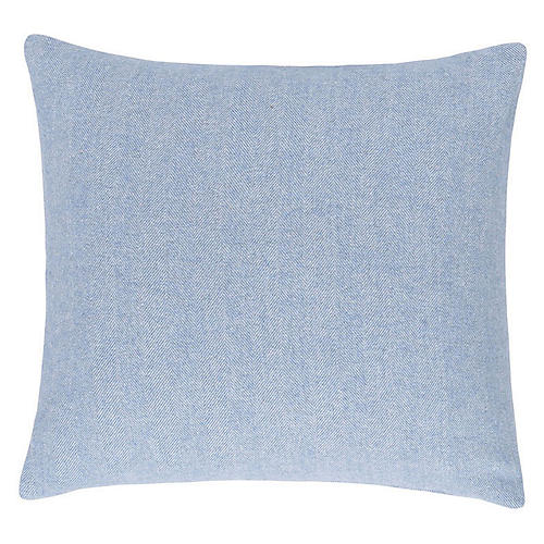 Herringbone 20x20 Pillow, Blue Denim