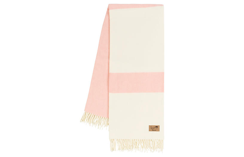 Sydney Stripe Throw, Blush