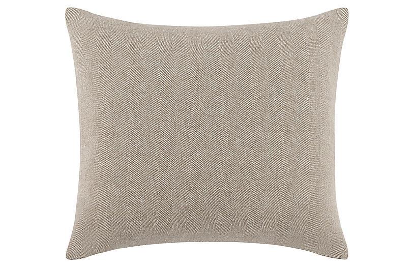 Herringbone 20x20 Pillow, Barnwood