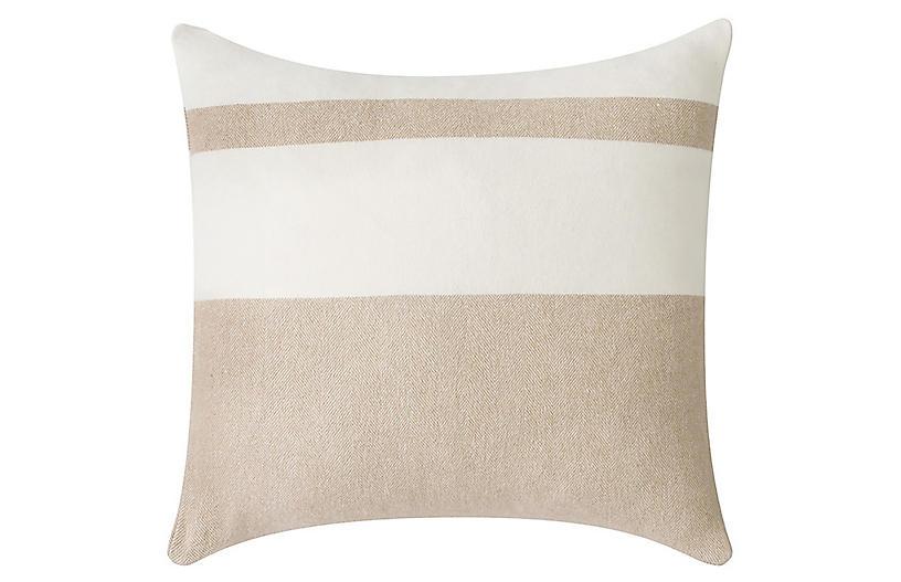 Sydney Stripe 20x20 Pillow, Dune