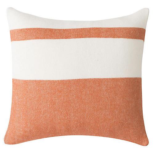 Sydney Stripe 20x20 Pillow, Mandarin