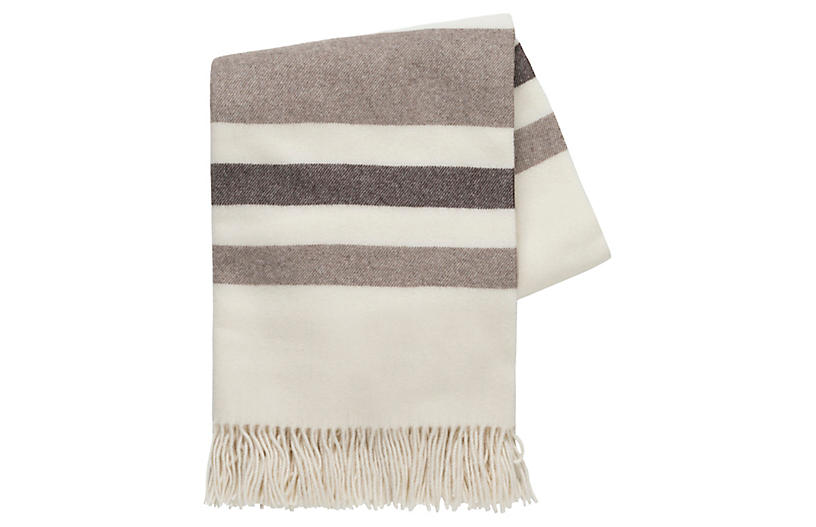 Riveria Cashmere Blend Throw, Beige/Taupe