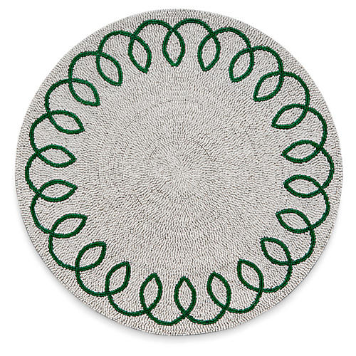 Chinoiserie Place Mat, Green/White