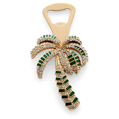 Palm Tree Bottle Opener, Gold/Green