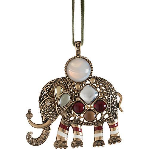 Elephant Ornament, Gold