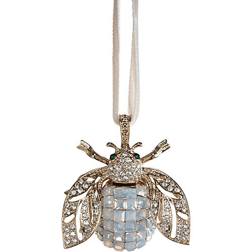 Sparkle Bee Ornament, Opal