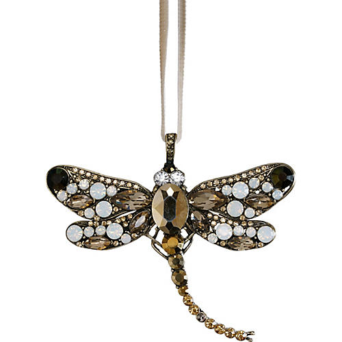 Large Dragonfly Ornament, Gold