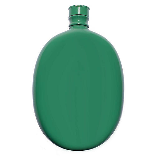 Smith Oval Flask, Green