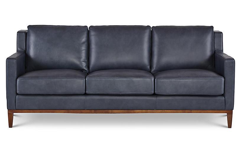 Anders Sofa, Denim Leather