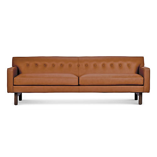 Rehder Sofa, Ginger Leather