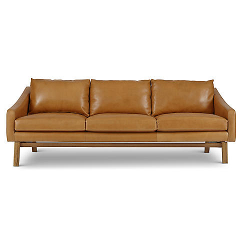 Dutch Sofa, Amber Leather