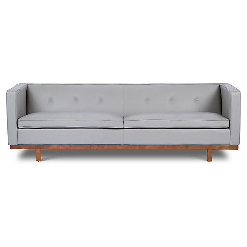 Von Sofa, Gray Leather