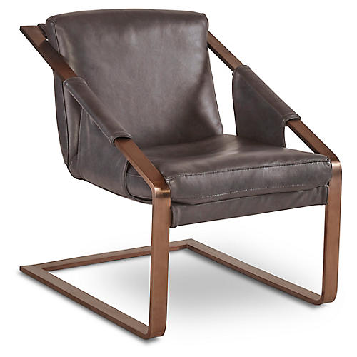 Eiffel Accent Chair, Quarry Leather