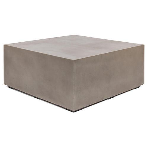 "Bloc 40"" Coffee Table, Gray Concrete"
