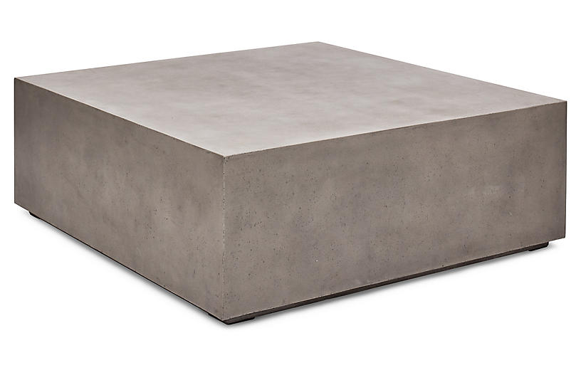 Astounding Block 47 Coffee Table Gray Concrete Ncnpc Chair Design For Home Ncnpcorg