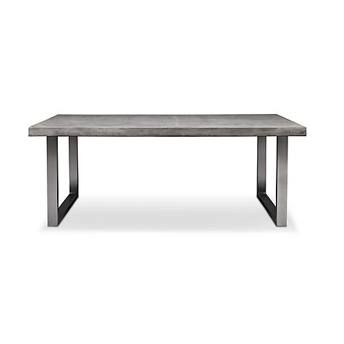 Viktorie Dining Table, Brushed Stainless Steel
