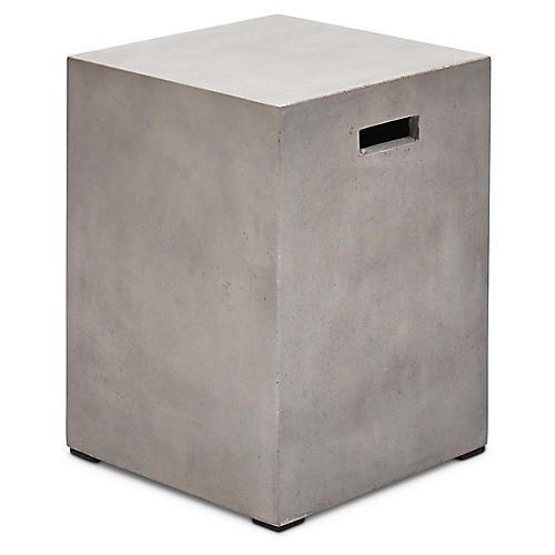 Una Stool, Gray Concrete