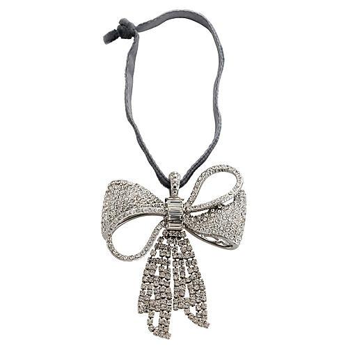 Sparkle Bow Ornament, Crystal