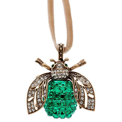 Sparkle Bee Ornament, Emerald