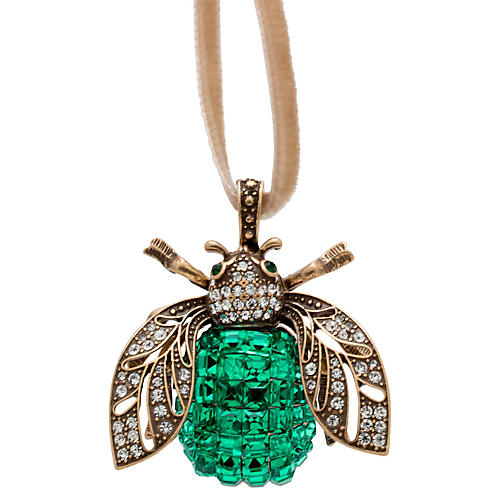 Sparkle Bee Ornament, Emerald