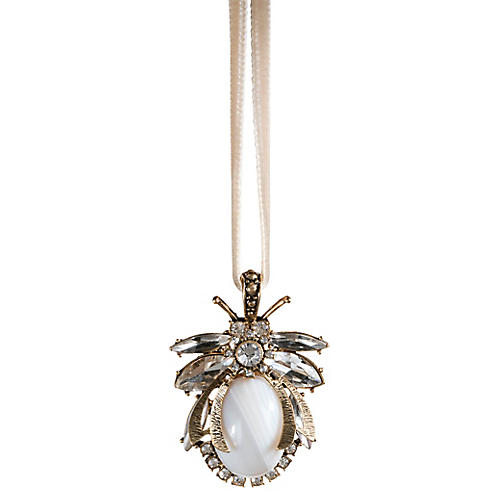 Vintage Bug Ornament, White