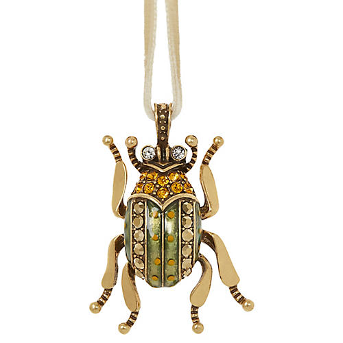 Beetle Ornament, Gold/Multi
