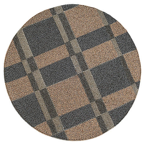 Plaid Place Mat, Beige/Gray