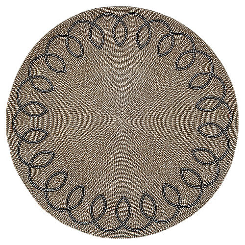 Chinoiserie Place Mat, Silver
