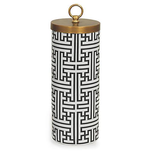 Perry Jar, Black/White