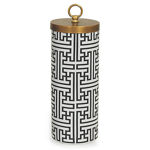 Perry Jar, Black/White