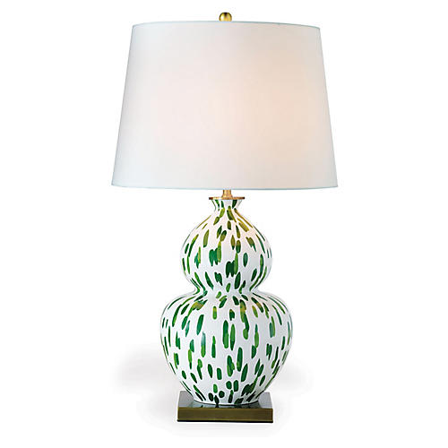 Mill Reef Table Lamp, Palm/Multi