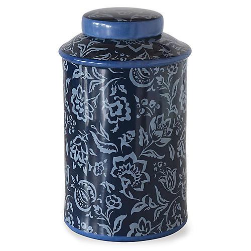 "15"" Rokeby Road Jar, Blue"