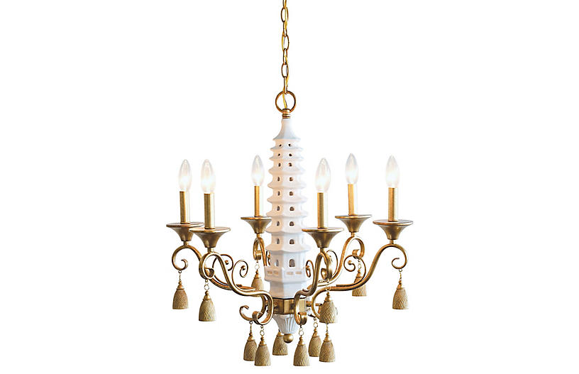 Oh, Pagoda Chandelier, Gold