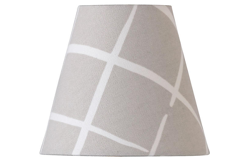 Cove End Clip-on Lampshade, Oyster