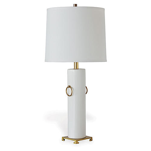 Beverly Table Lamp, Cream/Gold