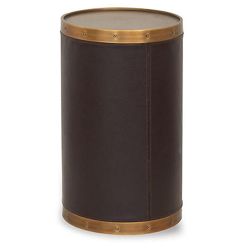Patrick Side Table, Aged Brass