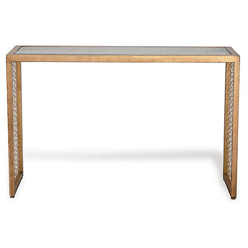 Trousdale Console, Gold Leaf