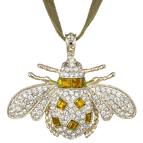 Classic Bee Ornament, Amber