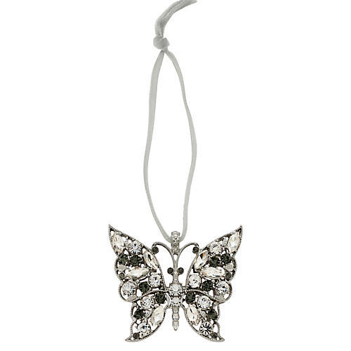 Butterfly Ornament, Crystal